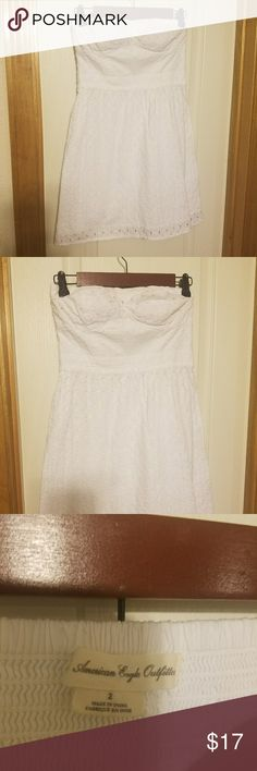 American Eagle Strapless Dress BRAND new! No stains, completely perfectly white! American Eagle Outfitters Dresses Midi