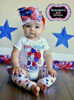 Monogrammed 4th Of July Shirt Or Onesie Patriotic Flag Heart