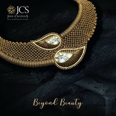 Invest in our classic gold collection of necklaces that are beyond beauty only at JCS Jewel Creations. 1 Gram Gold Jewellery, Gold Jewellery Design, Antique Necklace, Antique Jewelry, Enamel Jewelry, Antique Gold, Gold Mangalsutra Designs, Gold Jewelry Simple, Best Jewelry Stores