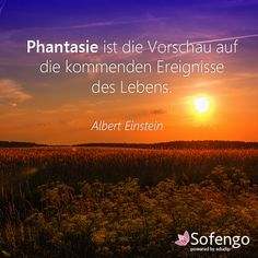 Phantasie ist die Vorschau auf die kommenden Ereignisse des Lebens.- Albert Einstein