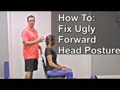 Brendon Bradley shows how to identify and correct forward head posture and upper crossed syndrome. Bradley's website here: bradleychirop. Fix Bad Posture, Better Posture, Good Posture, Improve Posture, Posture Help, Forward Head Posture Correction, Posture Correction Exercises, Scoliosis Exercises, Posture Exercises