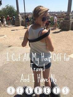 Ah, the old travel hair conundrum. Ladies, you know what I mean. What happens when you're on the road or living in a country where you can't convey exactly what you're going for with your hairstyle… Short Hair Hacks, Short Hair Styles, Travel Checklist, Travel Tips, Cut My Hair, Hair Cuts, Travel Hairstyles, Travel Quotes, Time Travel