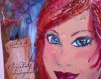 Vintage style ecodesign painting !!!! *Leelooart