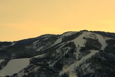 Steamboat Springs, Colorado.  Almost sunrise over the ski runs.