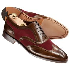 Brown and red Chester calf leather co-respondent shoes   Men s business  shoes from Charles eabe53f8cbec