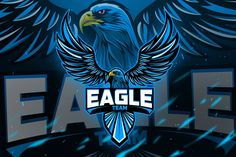 Ad: Eagles - Mascot & Esport Logo by AQR Studio on Introducing!, Eagles - Mascot & Esport Logo- Suitable for your personal or squad logo, All elements on this template are editable with Eagle Mascot, Eagle Logo, Coreldraw, Foto Madara, Eagles, Cores Rgb, Logan, Eagle Sports, Envato Elements