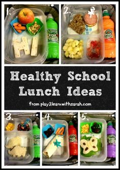 Healthy School Lunch Ideas - 5 lunch ideas my kids will actually eat.  Play 2 Learn with Sarah