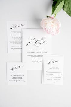 Vintage Glam Wedding Invitations with gorgeous typography!