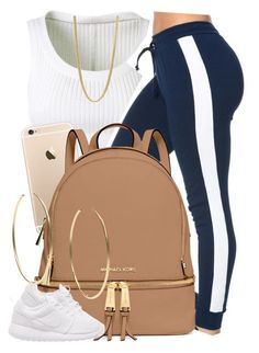 """✨"" by newtrillvibes ❤ liked on Polyvore featuring Alaïa, MICHAEL Michael Kors, Marc by Marc Jacobs, NIKE, Michael Kors, women's clothing, women, female, woman and misses"