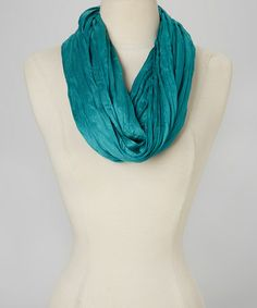 Love this Teal Scrunch Infinity Scarf by Imperial on #zulily! #zulilyfinds
