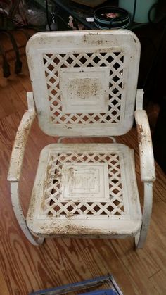 Office Chairs Without Wheels Product Vintage Metal Chairs, Vintage Patio Furniture, Metal Lawn Chairs, Metal Garden Furniture, Lawn Furniture, Repurposed Furniture, Outdoor Furniture, Old Chairs, Desk Chairs
