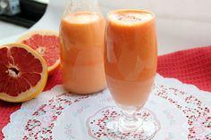 Sweet Frosting: Grapefruit, Pear, and Sweet Potato Juice  Ingredients:    1 large sweet potato  1 grapefruit  2 pears