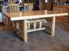 Dining Tables; Forest Log Furniture & Railing