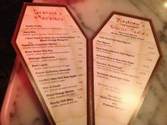 .casket menus