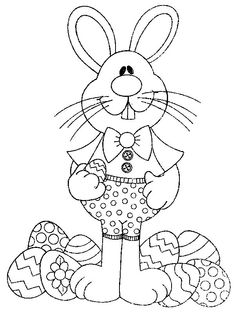 desenhos coelhinhos fofos colorir atividades escola pascoa (5)