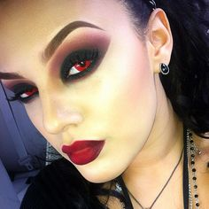.@viva_glam_kay | Closer look of my makeup. Eyes: Carbon on lid, Red Brick and Cranberry blende... | Webstagram - the best Instagram viewer