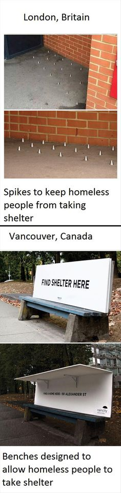 ~ PERHAPS BRITAIN & THE USA NEED TO GROW SOME HUMANITY & CHECK OUT WHAT IS BEING DONE IN CANADA TO HOUSE THE HOMELESS. VANCOUVER IS AN HEROIC CITY ~