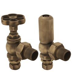 Daisy wheel classic manual radiator valves perfect for traditional radiators with tapping connections.