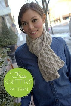 Nickel and Dime Scarf: Reversible Cable Scarf Free Knitting Pattern!