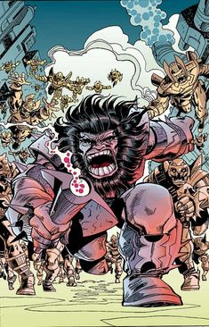 Kalibak is the first-born son of Darkseid and Suli.  His mother was killed by Desaad, acting under orders from Kalibak's grandmother Queen Heggra. He is Darkseid's second in command in battle, and is often pitted against Orion. After numerous clashes they learned that they were half-brothers. This fuels Kalibak's hatred of Orion to new levels, for Darkseid clearly values Orion over his first-born.