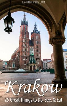 Here are 25 of the best things to do in Krakow, Poland with tips to help you manage your time, day trip to Auschwitz, see Kazimierz, and much more. Best Places To Travel, Places To See, Krakow Poland, Old Town Krakow, Warsaw Poland, Visit Poland, Poland Travel, Italy Travel, Road Trip