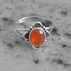 Classic Design Ring Carnelian Gemstone by DevmuktiJewels on Etsy, $15.00