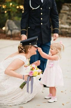 Military-wedding-engagement-photos-bride-cap-baby.jpg (662×1000)