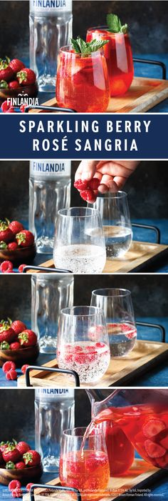 Love creating large batch cocktails for your entertaining needs? Then you'll really enjoy this recipe for Sparkling Berry Rosé Sangria! Whip up this delicious combination of Finlandia Vodka, blush wine, raspberry liqueur, strawberries, raspberries, and club soda before your get-together to make entertaining a breeze.