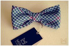 Blue and Green Bow Tie FREE SHIPPING Handmade Wool by MonejBowTies
