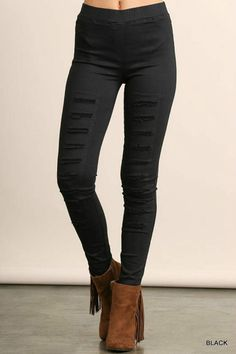 05102de06c5e2 9 best Distressed leggings images | Ripped leggings, Black Leggings ...