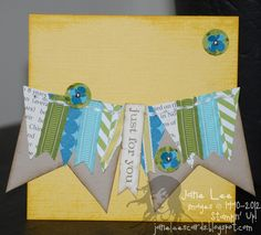 Just For You card - Jane Lee http://janeleescards.blogspot.com