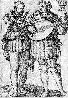 Artist: Aldegrever, Heinrich, Title: Stich aus Die kleinen Hochzeitstänzer, Serie von 8 Kupferstichen, Date: 1538: