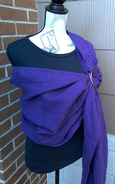 Ring Sling:  Finest quality natural linen and highest quality rings for years of use.  Machine wash AND dry!  Gift-boxed. by LoveGrammaBaby on Etsy