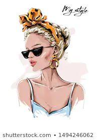 Fashion Illustration Face, Illustration Vector, Woman Illustration, Forest Illustration, Fashion Wall Art, Fashion Prints, Illustrations Vintage, Girly Drawings, Modelos Fashion