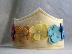 Beautiful felt crown with flowers.