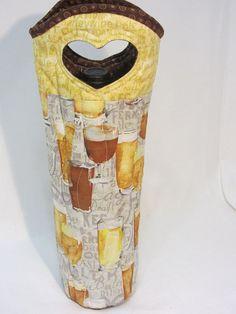 Beer Glasses Unique Craft Beer Bottle Bag Wine Bag by Wine2The9s, $22.50