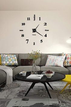 30 days full refund and 2 Years warranty - Modern Design: With large size and acrylic mirror surface, this diy clock is an amazing decoration for the blank wall - living room oversized wall clock - modern oversized wall clock , oversized