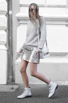 Just a little casual sparkle ✨ Topshop Boots, Sparkle Skirt, Just A Little, Proenza Schouler, Dna, Police, Personal Style, Sequin Skirt, Sequins