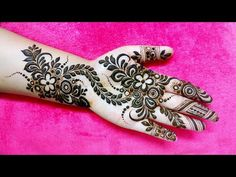 New Eid Special Mehndi Designs _ Easy and Beautiful Mehndi Design Mehndi Designs Front Hand, Full Mehndi Designs, Stylish Mehndi Designs, Mehndi Design Pictures, Wedding Mehndi Designs, Beautiful Mehndi Design, Arabic Mehndi Designs, Mehndi Images, Mehndi Designs For Hands