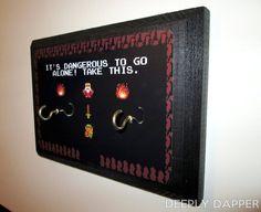 2 Hook Legend Of Zelda Key Hanger MAKE YOUR OWN by DeeplyDapper  Never lose your keys again!