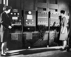 This was the very first computer and it was at the University of Pennsylvania, in Philadelphia. It was called ENIAC, which stood for Electronic Numerical Integrator and Computer. Computer Programming, Computer Science, Science And Technology, Technology Careers, Human Computer, Engineering Technology, Data Science, Margaret Hamilton, Alter Computer