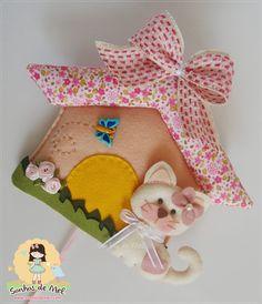 °°Uma casa para a Gatinha Felícia... - Sonhos de Mel 'ੴ - Crafts em feltro e tecido