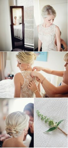 Pretty hair (and a beautifully detailed dress!)