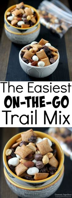 The Easiest On-the-Go Trail Mix - healthy, sweet, crunchy and delicious!