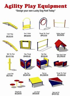 dog agility equipment | Agility Equipment How fun would it be to create a custom play area for your special pal?