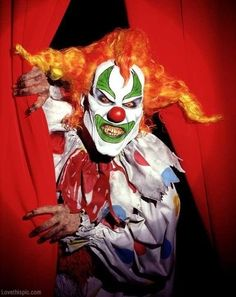 Creepy clown party scary creepy mask halloween clowns costumes adult costume