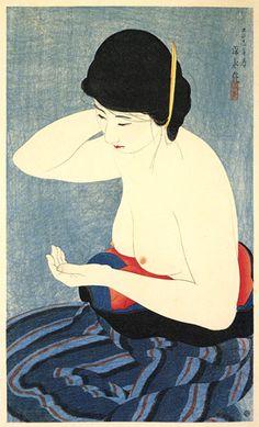 Makeup  by Ito Shinsui, 1922  (published by Watanabe Shozaburo)