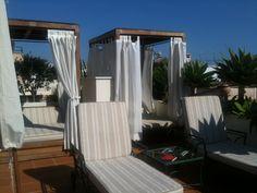The lovely sun-trap of a garden terrace at the Hotel Palacio Ca Sa Galesa