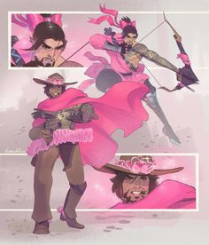 Viviana Medeiros Illustration | Comics Pink Overwatch fan art. 2018