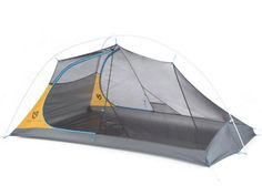 A superb shelter with a trail weight under 2 lbs., the Nemo Hornet Elite tent has 2 doors and 2 vestibules to create a livable space for you and your backpacking partner. Available at REI, Satisfaction Guaranteed. Best Tents For Camping, Tent Camping, Camping Gear, Outdoor Camping, Camping Hacks, Camping Storage, Truck Camping, Camping Checklist, Camping Essentials